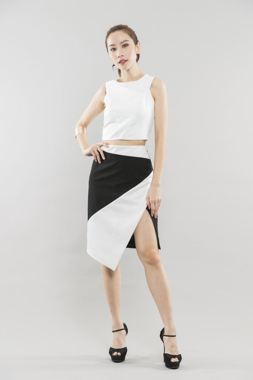 Bianca Asymmetrical Top White